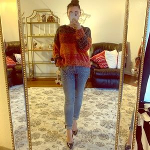 Pilcro beaded jeans